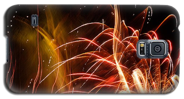 Galaxy S5 Case featuring the photograph Fireworks Finale  by Haleh Mahbod