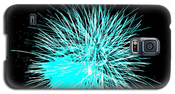 Galaxy S5 Case featuring the photograph Fireworks In Blue by Michael Porchik