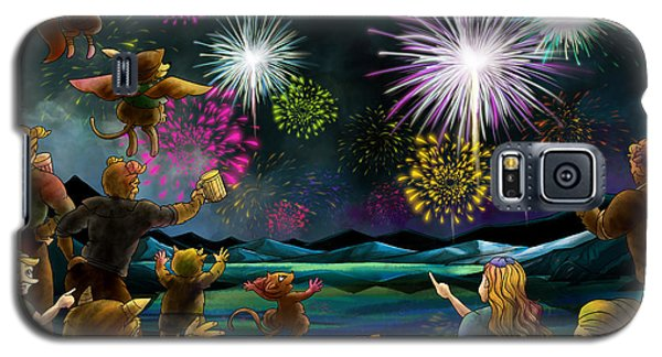 Galaxy S5 Case featuring the painting Fireworks In Oxboar by Reynold Jay