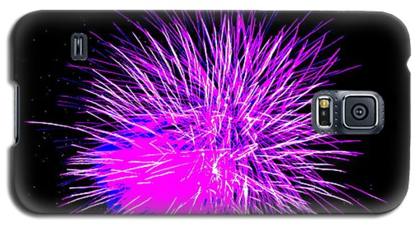 Galaxy S5 Case featuring the photograph Fireworks In Purple by Michael Porchik