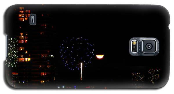 Fireworks Over Miami Moon II Galaxy S5 Case