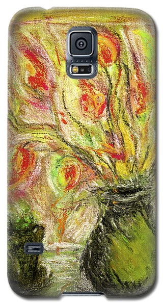 Firery Window Galaxy S5 Case by Linde Townsend