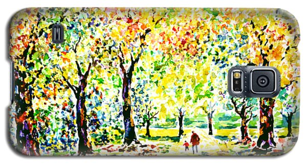 Galaxy S5 Case featuring the painting First Autumnal Walk On His Own Feet by Alfred Motzer