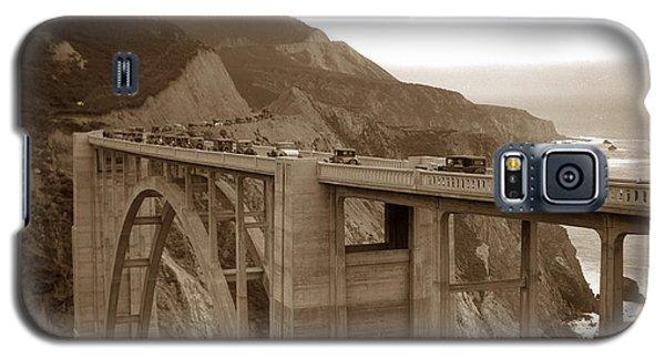 First Cars Across Bixby Creek  Bridge Big Sur California  Nov. 1932 Galaxy S5 Case
