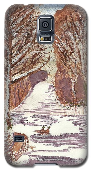 First Footprints Galaxy S5 Case by Tracey Williams