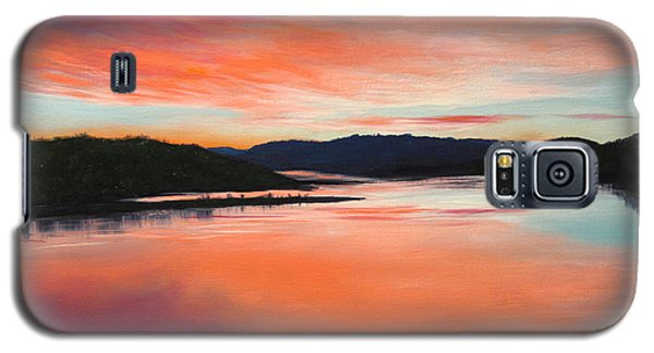 Galaxy S5 Case featuring the painting Arkansas River Sunrise by Glenn Beasley