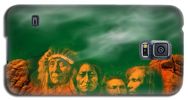 First Nations Chiefs In Mount Rushmore Galaxy S5 Case by Anastasia Savage Ealy
