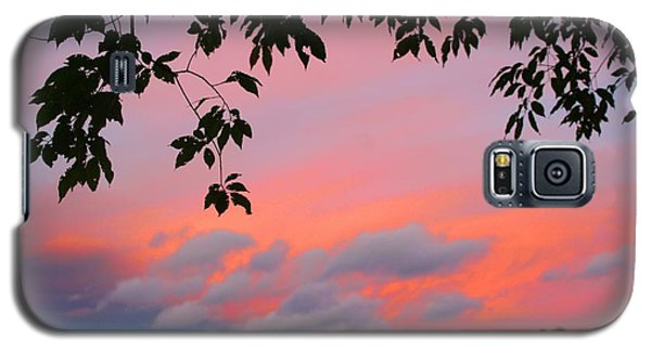 Galaxy S5 Case featuring the photograph First October Sunset by Kathryn Meyer