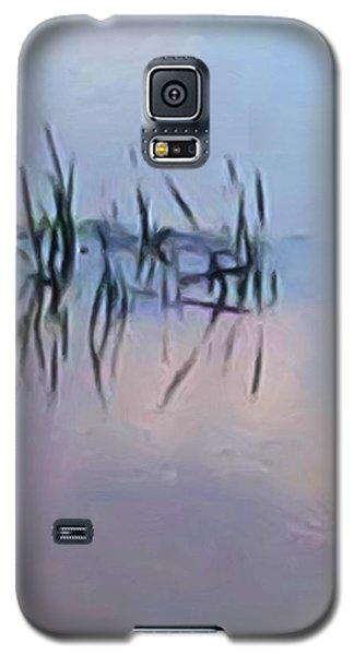 Galaxy S5 Case featuring the digital art First Reeds Of Spring by Spyder Webb