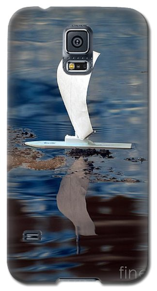 Galaxy S5 Case featuring the photograph First Sail by Rebecca Parker