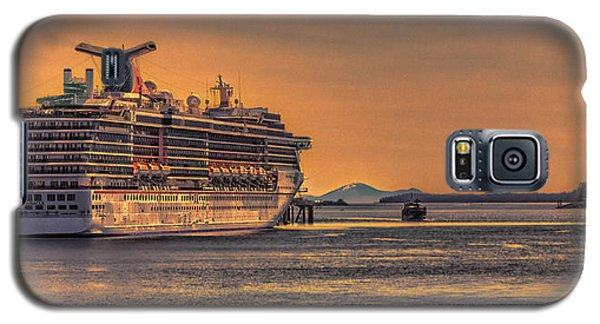 First Ship Of The Season In Alaska Galaxy S5 Case by Timothy Latta
