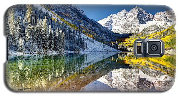 First Snow Maroon Bells Galaxy S5 Case