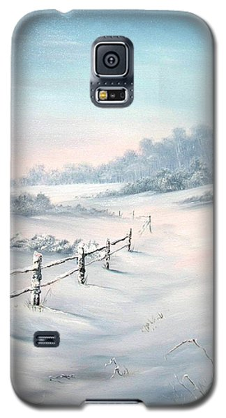 Galaxy S5 Case featuring the painting First Snows by Jean Walker