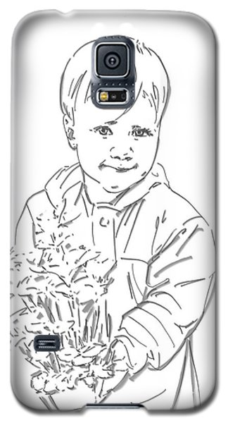 Galaxy S5 Case featuring the drawing First Time Growing Strawberries  by Olimpia - Hinamatsuri Barbu