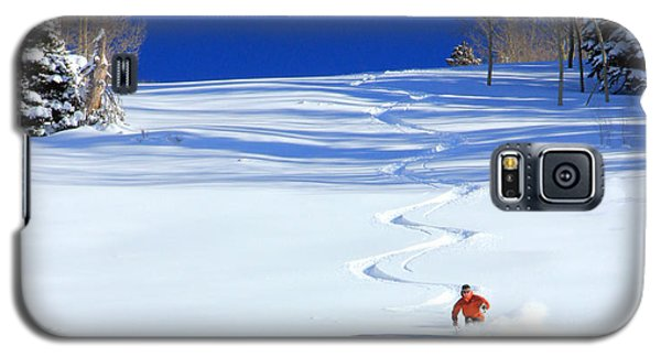 Mountain Galaxy S5 Case - First Tracks by Johnny Adolphson