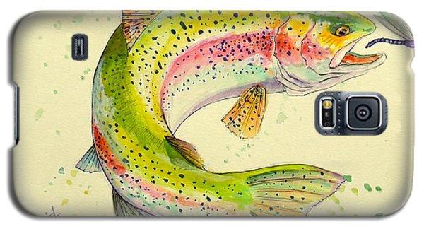 Salmon Galaxy S5 Case - Fish After Dragon by Yusniel Santos