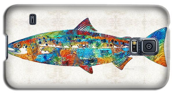 Fish Art Print - Colorful Salmon - By Sharon Cummings Galaxy S5 Case