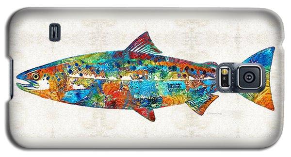 Fish Art Print - Colorful Salmon - By Sharon Cummings Galaxy S5 Case