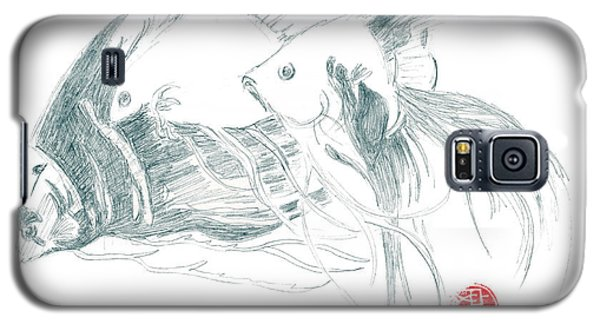 Galaxy S5 Case featuring the drawing Fish by Dianne Levy