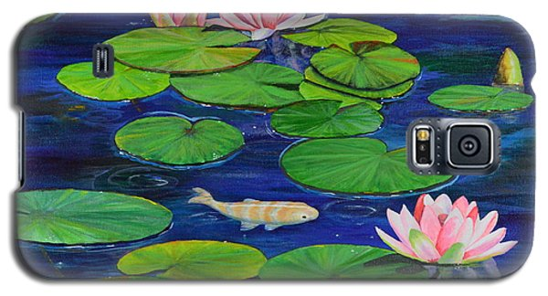 Galaxy S5 Case featuring the painting Tranquil Pond by Mary Scott