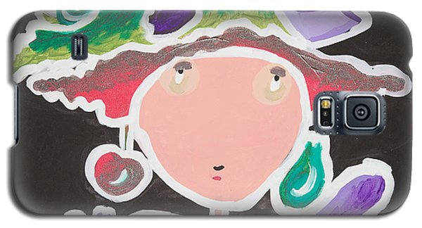 Galaxy S5 Case featuring the painting Fish On My Head by Artists With Autism Inc