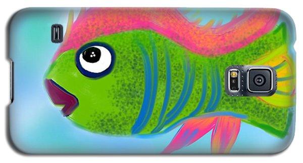Galaxy S5 Case featuring the digital art Fish Wish by Christine Fournier