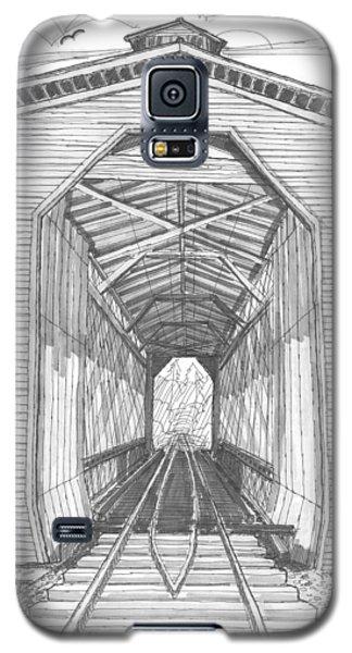 Fisher Railroad Covered Bridge Galaxy S5 Case