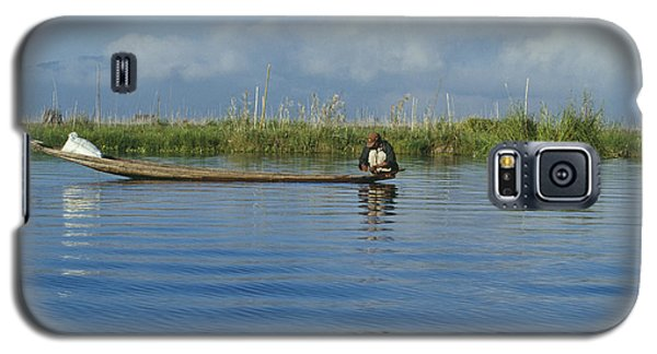 Fisherman On The Inle Lake Galaxy S5 Case