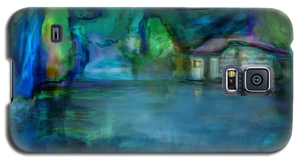 Galaxy S5 Case featuring the digital art Fishermans Hut by Martina  Rathgens
