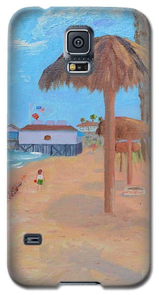 Galaxy S5 Case featuring the painting Fisherman's Resturant by Mary Scott