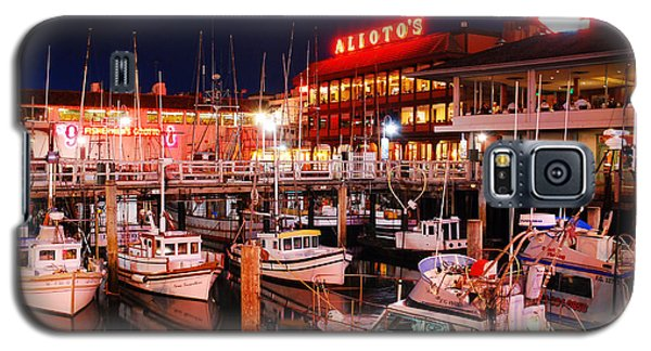 Galaxy S5 Case featuring the photograph Fisherman's Wharf At Dusk by James Kirkikis
