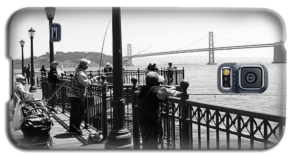 Galaxy S5 Case featuring the photograph San Francisco - Fishing At The Pier by Haleh Mahbod