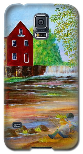 Fishin' At The Old Mill Galaxy S5 Case