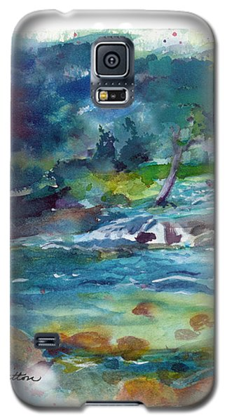 Galaxy S5 Case featuring the painting Fishin' Hole 2 by C Sitton