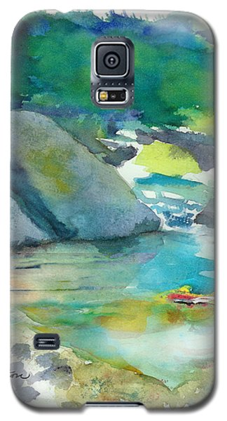 Galaxy S5 Case featuring the painting Fishin' Hole by C Sitton