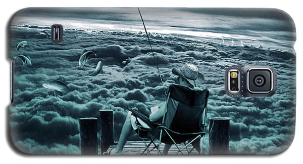Fishing Above The Clouds Galaxy S5 Case by Marian Voicu