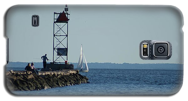 Fishing At Southport Harbor Galaxy S5 Case by Margie Avellino