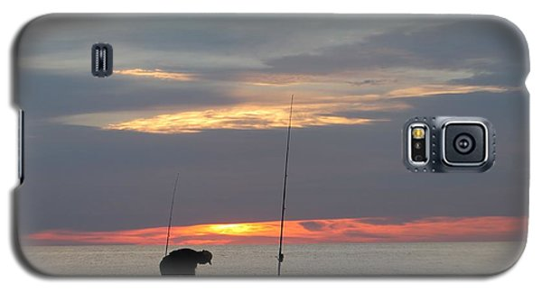 Galaxy S5 Case featuring the photograph Fishing At Sunrise by Robert Banach