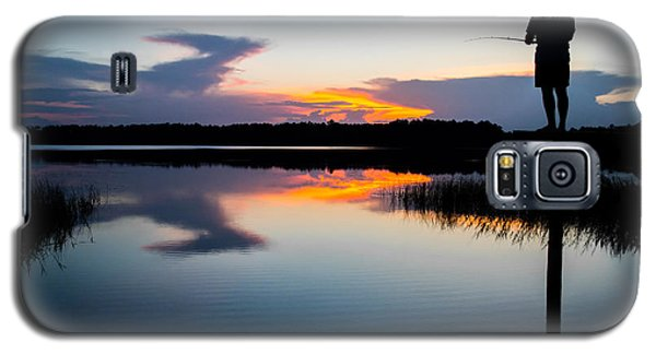 Fishing At Sunset Galaxy S5 Case