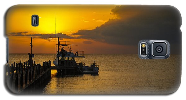 Fishing Boat At Sunset Galaxy S5 Case by Phil Abrams