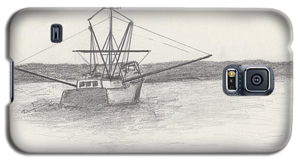 Galaxy S5 Case featuring the drawing Fishing Boat by David Jackson