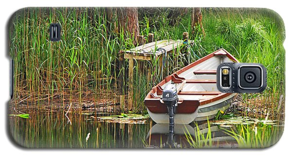 Galaxy S5 Case featuring the photograph Fishing Boat by Mary Carol Story