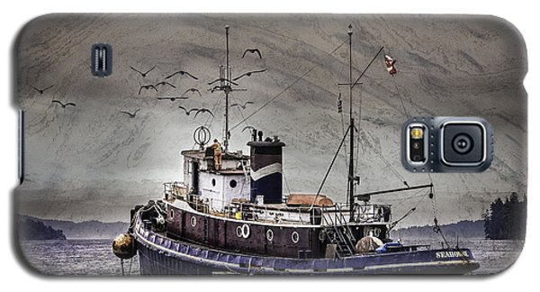 Galaxy S5 Case featuring the mixed media Fishing Boat by Peter v Quenter