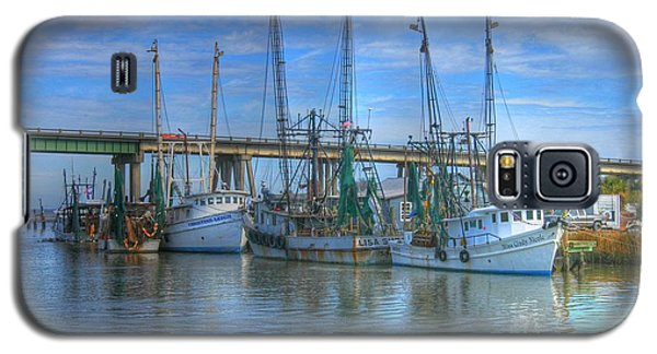 Galaxy S5 Case featuring the photograph Fishing Boats At The Dock by Donald Williams
