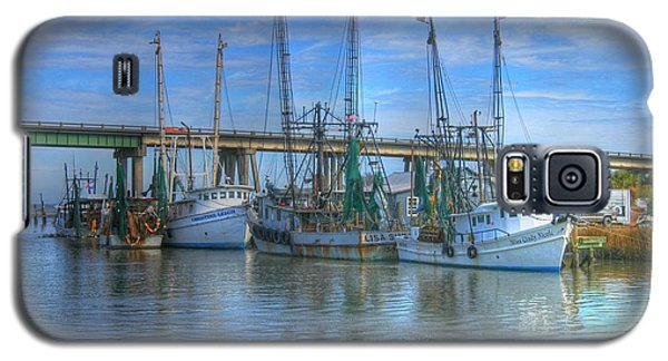 Fishing Boats At The Dock Galaxy S5 Case by Donald Williams