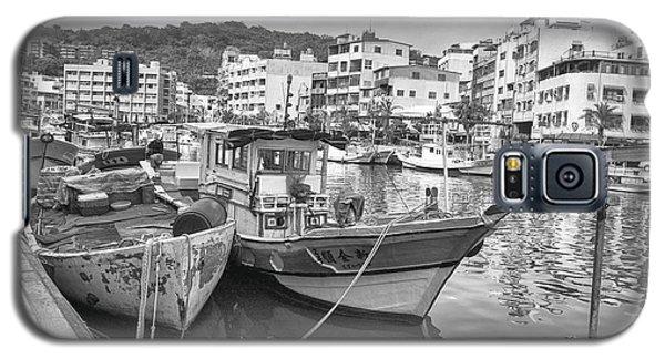 Fishing Boats B W Galaxy S5 Case
