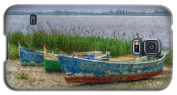 Galaxy S5 Case featuring the photograph Fishing Boats by Hanny Heim