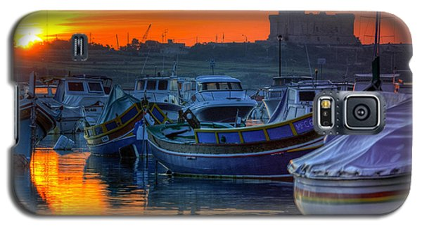 Fishing Boats In Birzebuggia Harbour Galaxy S5 Case