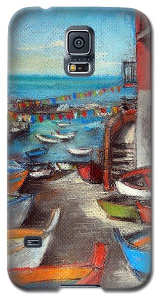 Fishing Boats In Riomaggiore Galaxy S5 Case