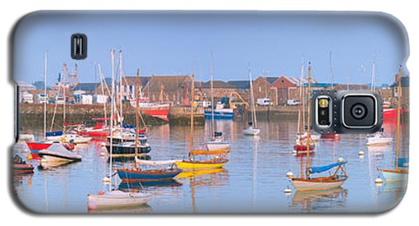 Fishing Boats In The Howth Marina Galaxy S5 Case by Semmick Photo